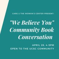 We Believe You Book Conversation