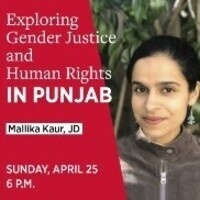 Mallika Kaur, JD to present Sunday April 25 at 6pm