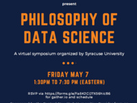 Poster for Philosophy of Data Science symposium.