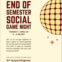PSI CHI: End of Semester