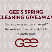 GEE's Spring Cleaning Giveaway!