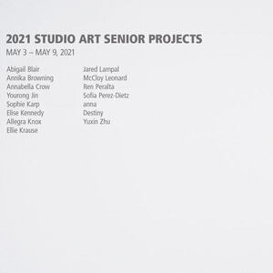 Clifford Gallery Exhibition: Senior Projects in Studio Art