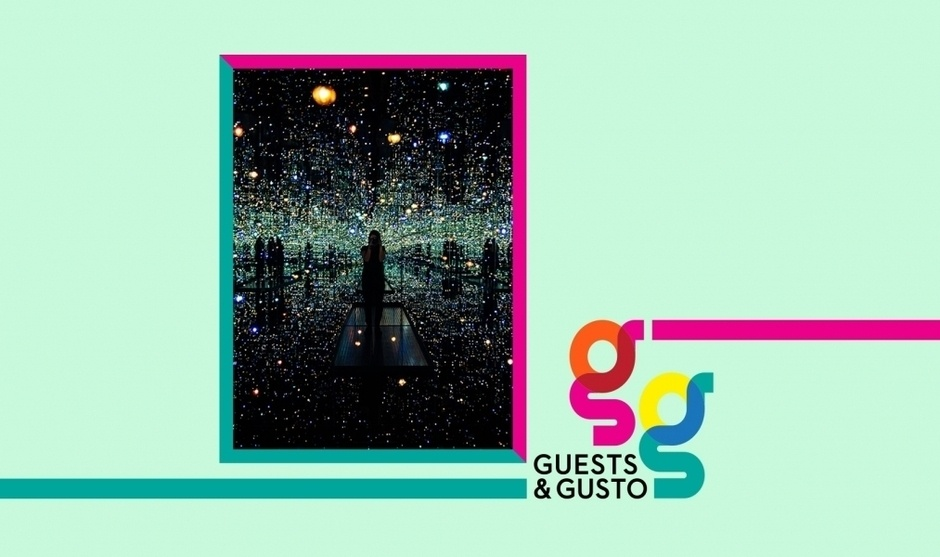Reflect on the work of Yayoi Kusama with SCAD professor Alexandra Tunstall on 'Guests and Gusto'