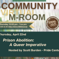 Community M-Room: Prison Abolition: A Queer Imperative | Multicultural Affairs
