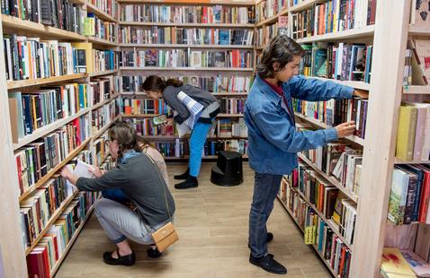 Santa Fe Bookstore Interior