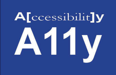 logo showing a[ccessibilit]y A11y in text