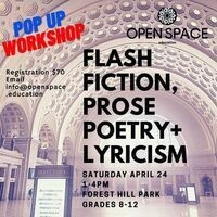 Open Space Education's FLASH FICTION, PROSE POETRY + LYRICISM Workshop with Logan Hill