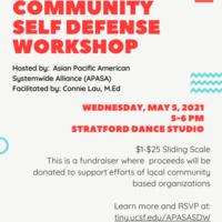 Community Self Defense Workshop- Asian Pacific Islander (API) Heritage Month 2021