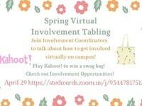 Spring Virtual Involvement Tabling