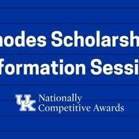 Rhodes Scholarship Information Session