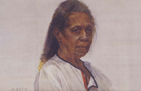 """Mario Andres Robinson, """"Charlestine,"""" n.d., watercolor, 9 x 12 inches. Image courtesy of the artist."""