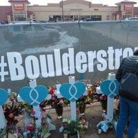 the memorial of the Boulder shooting at the Table Mesa King Soopers