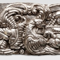 Plaque from an altar frontal, Perú, first half of the 18th century, Blanton Museum of Art at the University of Texas, photo courtesy of the Philadelphia Art Museum