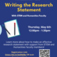 Writing the Research Statement