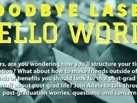 Goodbye Lasell, Hellow World! Seniors! Are you wondering how you'll structure your time after graduation? What about how to make friends outside of college? The kinds of benefits you should look for in a post-grad job? And other stuff about post-grad life? Join Adela from the OHE (Well@Lasell) to talk through your post-graduation worries, questions, and concerns!