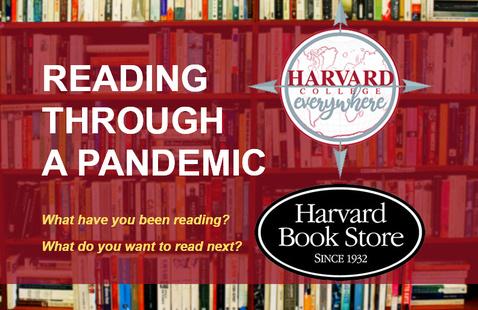 Reading Through A Pandemic book shelf with logos
