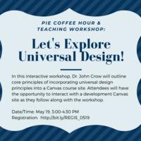 Universal Design PIE Workshop