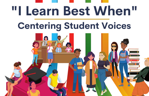 """""""I Learn Best When"""" poster"""