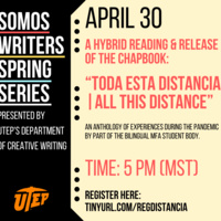 """A Hybrid Reading & Pre-release of the Chapbook: """"Toda esta distancia 