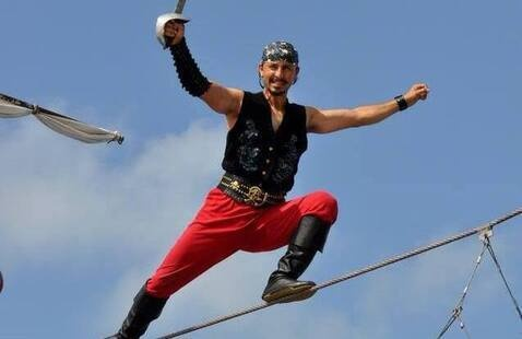 pirate on a highwire