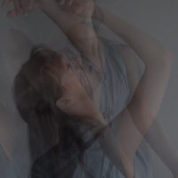 Overlapping photos of a female dancer