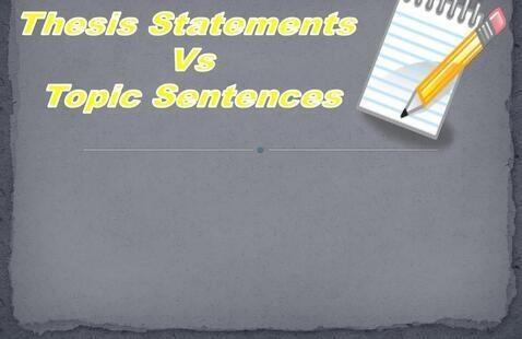 Title thesis statements vs topic sentences
