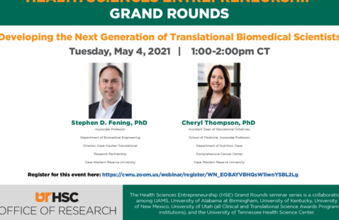 May's HSE Grand Rounds Speakers Drs. Fening and Thompson