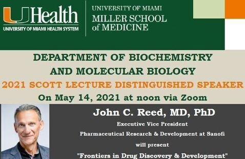 Save the Date - 2021 Walter Scott Lecture - BMB Department