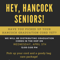 Hancock Commons Graduation Cord Pick up Event