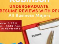 Undergraduate Resume Reviews with Recruiters
