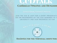 CUD Talk, CSA & LASP Townhall Meeting, Caribbean Updates and Demands