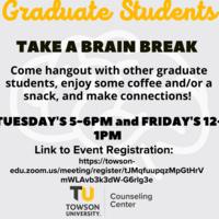Virtual: Weekly Graduate Student Brain Breaks