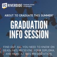 Graduation Info Session for GSOE Summer 2021 Graduates