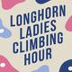 Longhorn Ladies Climbing Hour word mark