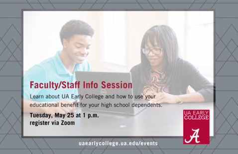 UA Early College Info Session for Faculty/Staff