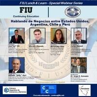 Hablando de Negocios entre Estados Unidos, Argentina, Chile y Perú (en español)