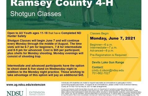 Ramsey County 4-H Youth Shotgun Classes