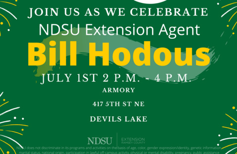 Retirement Party for NDSU Extension Agent Bill Hodous