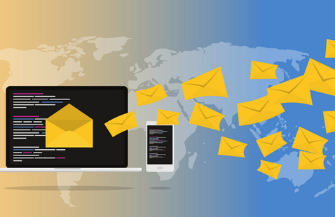 email messages sent from pc and smartphone