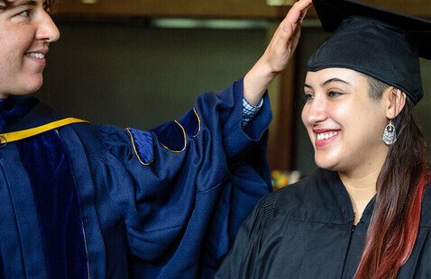 2021 Commencement: faculty enrobing
