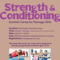 Strength & Conditioning Summer Camp for Teenage Girls