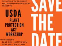 ORSP's USDA FY22 PPA 7721 Workshop