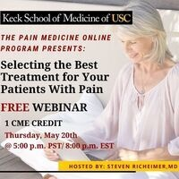 Free CME Selecting the Best Treatment for Your Patients With Pain Webinar