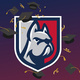 DeSales Bulldog Shield with Graduation Caps