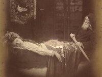 """Lancelot and Elaine"" by Julia Margaret Cameron (photographer), 1875"
