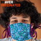"student wearing mask, with ""BEaver Vaccinated"" message"