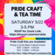 Pride Craft and Tea Time