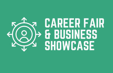 graphic for Career Fair and Business Showcase graphic