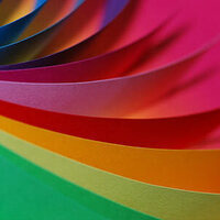 construction paper in a rainbow of colors