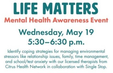 Life Matters - Mental Health Awareness Event
